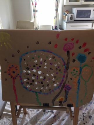 20.03.13 Balloon Phoebe painting