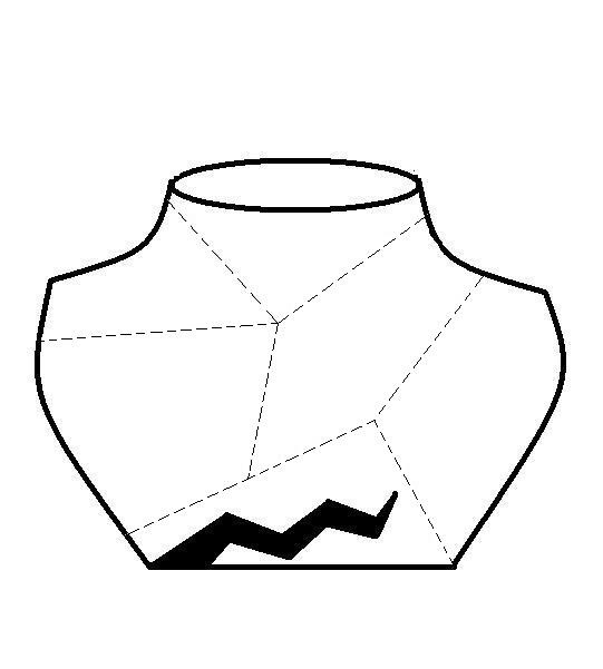 Broken Pot Cutout